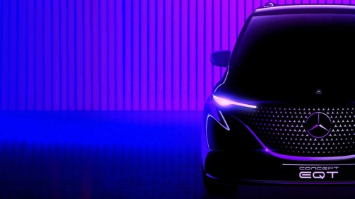 Mercedes Teases Concept EQT Small Family Van, Debuts On May 10