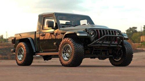 Jeep Gladiator Two-Door Rendering Looks Bad To The Bone