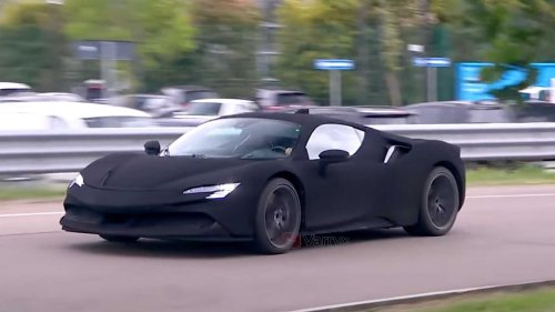 Ultra-Black Ferrari SF90 Stradale Has Us Puzzled
