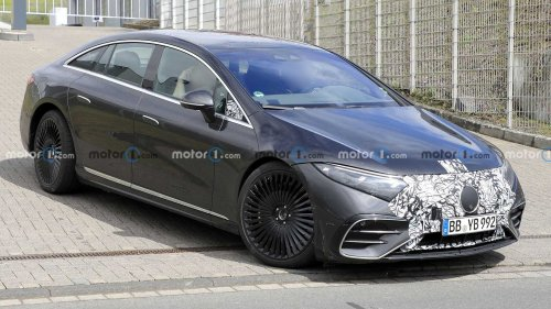 Mercedes-AMG EQS Spied Showing Off High-Performance EV Look