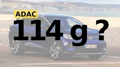 VW ID.4 emittiert mittelbar 114 g CO2 pro km, sagt der ADAC