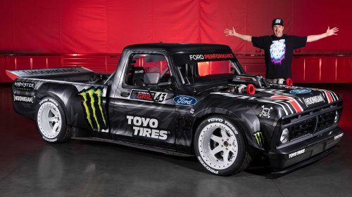 Ken Block selling his bonkers Ford Hoonitruck for a cool million