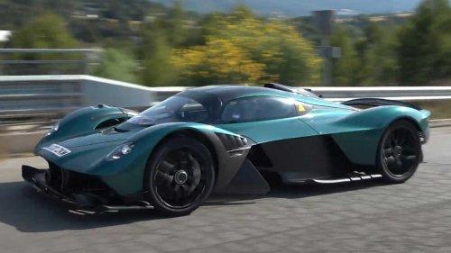 Aston Martin Valkyrie spy video shows hypercar testing in public