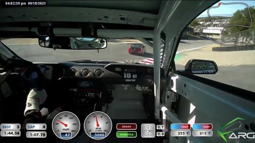 Watch Ford Mustang Touring Car Win At Laguna Seca After Starting Dead Last