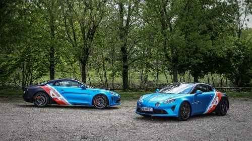 Alpine A110 Trackside Cars Debut As Rad Daily Commuters For F1 Drivers