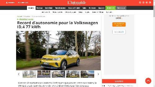 VW ID.4 Beats Tesla Model Y Long Range In French Range Test