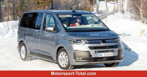 VW T7 Multivan auf neuen Erlkönigbildern fast ungetarnt