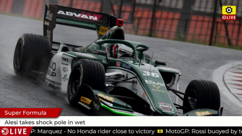 Super Formula: Alesi takes shock pole in wet - Super Formula Videos