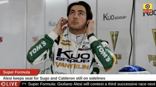 Super Formula: Alesi keeps seat for Sugo - Super Formula Videos