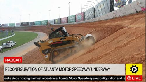 NASCAR: Reconfiguration of Atlanta Motor Speedway Underway - NASCAR Cup Videos