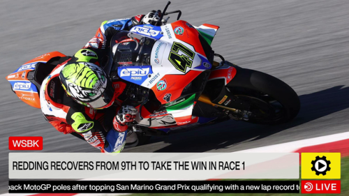 WSBK: Redding recovers from 9th to take the win in Race 1 - World Superbike Videos