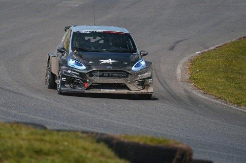 BTCC legend Matt Neal tests electric rallycross Supercar