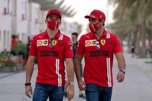 Sainz's Ferrari euphoria 'contagious' for F1 team - Leclerc