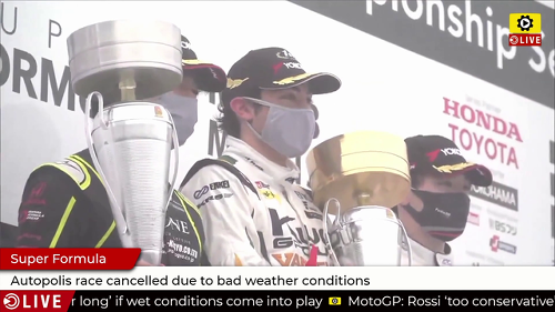 Super Formula: Autopolis race ended early due to bad weather conditions - Super Formula Videos