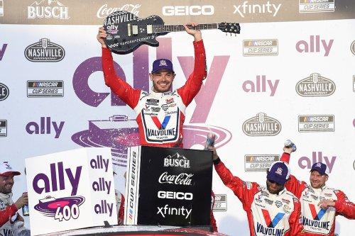 Larson dominates Nashville for fourth straight NASCAR Cup win