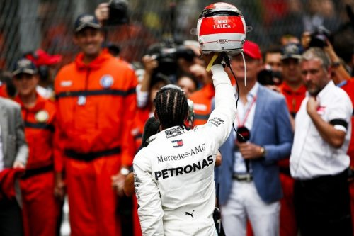 Hamilton's Monaco GP Lauda tribute helmet made last-minute