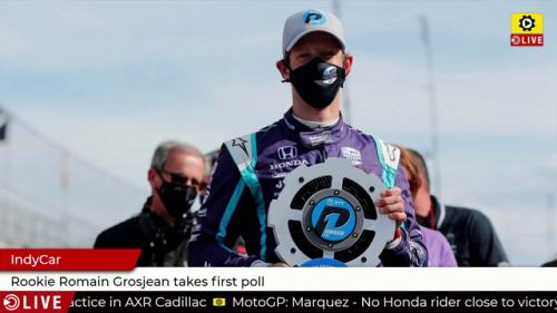 IndyCar: Rookie Romain Grosjean takes first pole - IndyCar Videos