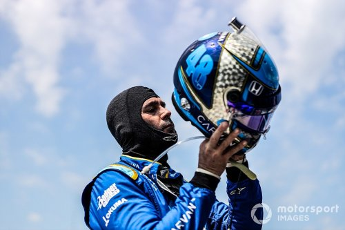Johnson 'still in a big hole' in IndyCar, nobody will have Nashville 'leg up'
