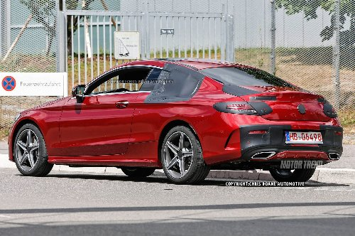 Mercedes C-Class Coupe Spied Nearly Uncamouflaged