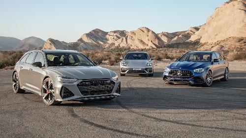 600-HP Wagons! 2021 Audi RS6 vs. Mercedes-AMG E63, Porsche Panamera Turbo S