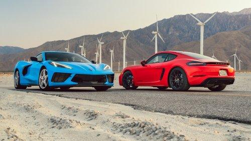 2021 Chevrolet Corvette vs. 2021 Porsche 718 Cayman GTS 4.0: Mid-Engine Showdown