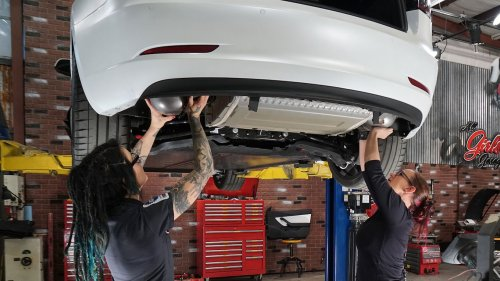 Tesla Aftermarket Parts Install: All Girls Garage with Faye Hadley and Bogi