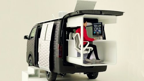 Nissan NV350 Office Pod Concept: Let's Never Return to the Office, Ever