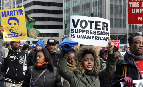 "Linking Voter Suppression and Abortion Restrictions: ""If We Lose Voting Rights, We Lose Women's Rights"""