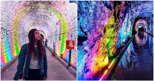 This Magical Light Show Is Hidden In A Tunnel Near Montreal & It's Worth A Trip Cause WOW