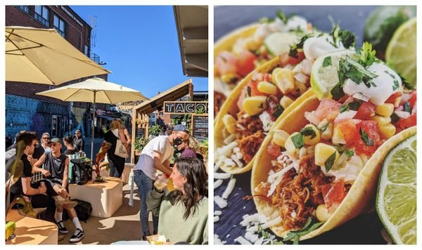 This Jean-Talon Market Restaurant Has Mouthwatering Tacos & A Festive Party Atmosphere