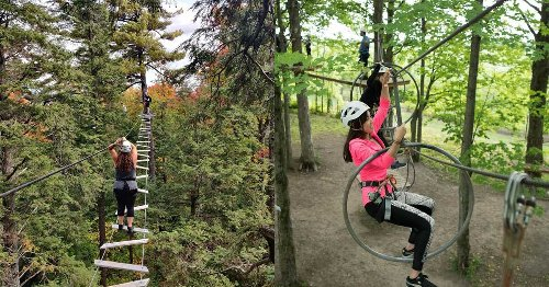 An Adventure Park With 'Mega Ziplines' & A Ropes Course Is Reopening Near MTL This Weekend