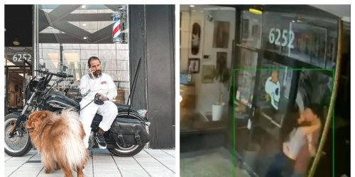 A Montreal Barber Wants To Identify The Couple That Broke His Shop Window While Making Out
