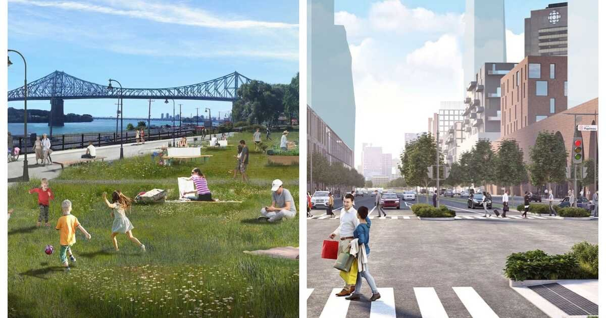Montreal Unveiled Plans To Transform Part Of The City, Including A New Riverside Path