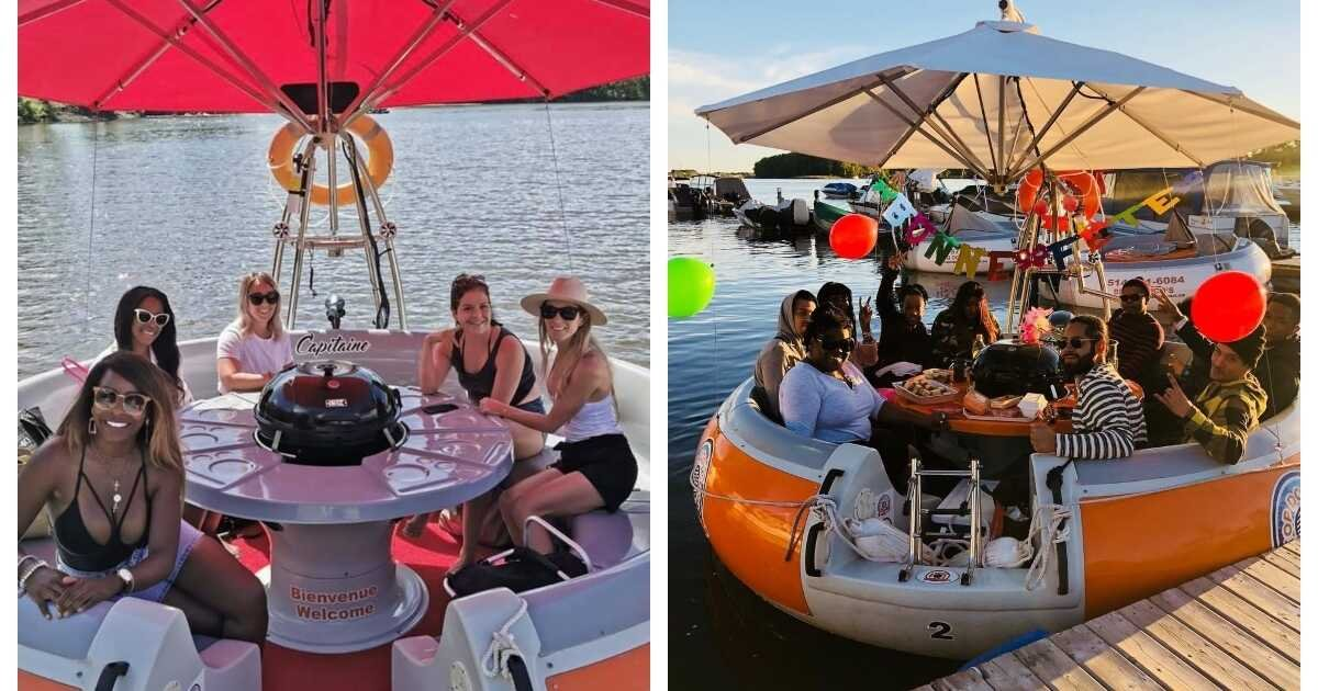 You Can Rent 'BBQ Donuts' Near Montreal To Spend A Summer Day Floating Away