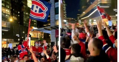 Here's What Montreal Looked Like After The Habs Beat The Leafs In Game 7 On Monday (VIDEO)