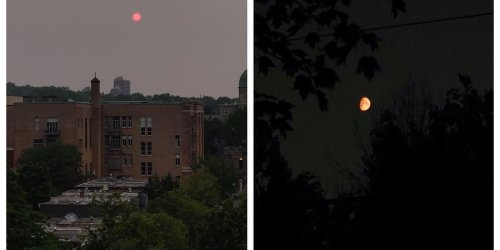 Here's The Cause Of Montreal's Blood Red & Orange Sun And Moon On Monday Night
