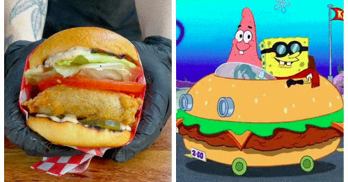 This New Restaurant Near Montreal Serves A Real-Life Krabby Patty & It's Supper Nostalgic