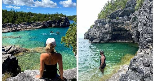 You Can Road Trip From Montreal To A Hidden Grotto Surrounded By Sparkly Turquoise Water