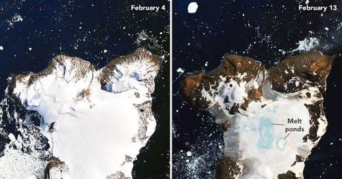 El deshielo de la Antártida visto desde el espacio