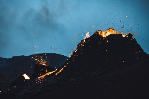 Las increíbles imágenes del volcán Fagradalsfjall en erupción