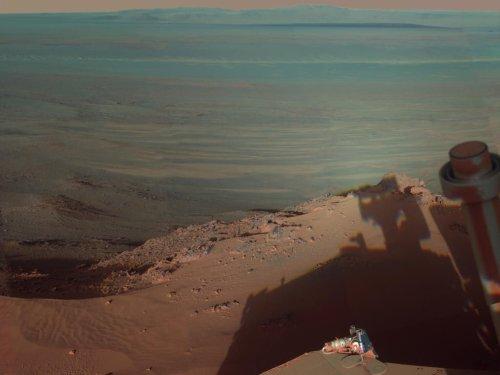 Las mejores imágenes de Marte - Sombras en el cráter Endeavour