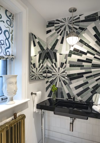 This Designer Turned a Drab Bathroom Into an Art Deco Dream — Here's How