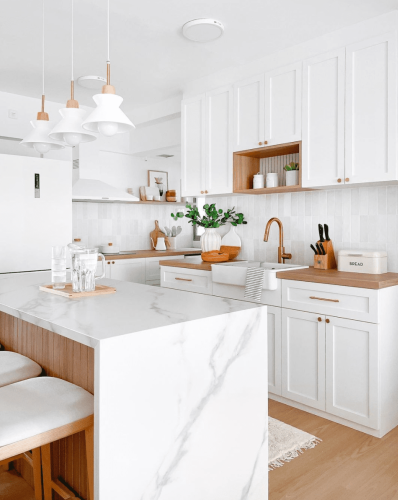27 of the Prettiest Small White Kitchens We've Ever Seen