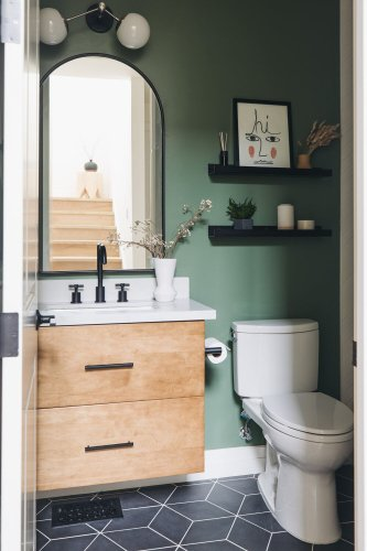 14 Over the Toilet Storage Ideas That Are Actually Chic
