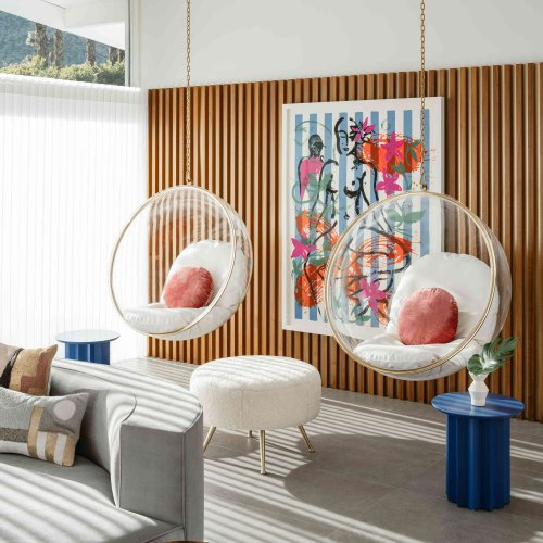 This Designer Turned on the Midcentury Charm in a 50's Era Living Room - Here's How
