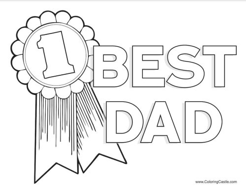 14 Father's Day Colouring Pages to Show Dad He's Extra Special