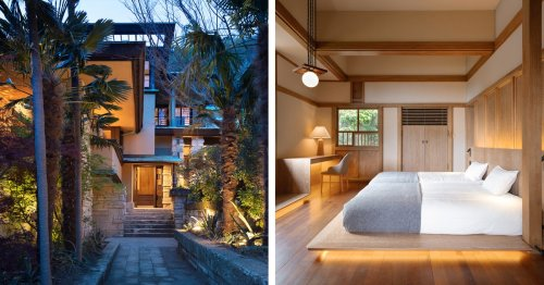 Architects Transform a Frank Lloyd Wright-Style Villa Into a Chic Tokyo Hotel