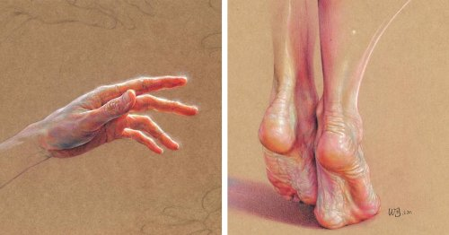 Expressive Figurative Drawings Capture Meticulous Details of the Human Body