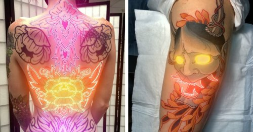 Artist Creates Supernatural Animated Tattoos With Moving Neon Lights
