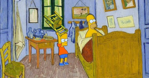Artist Reimagines Famous Paintings With the Quirky Cast of 'The Simpsons'